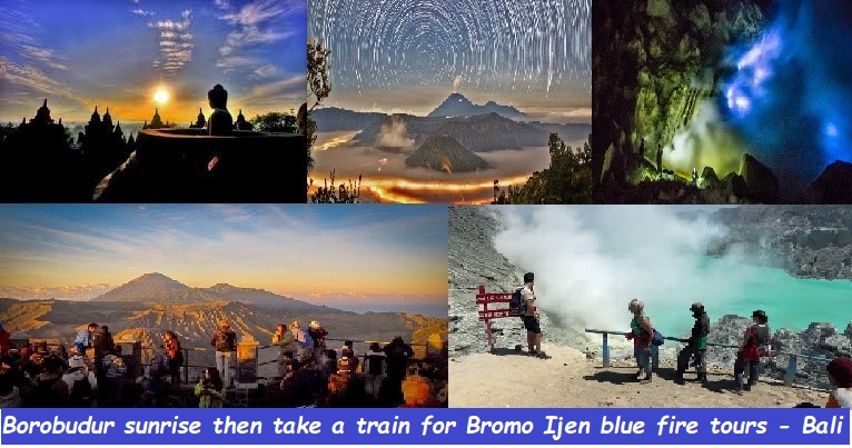 borobudur sunrise tours, bromo sunrise tours, ijen blue fire tour, java to bali tours, java bali holidays