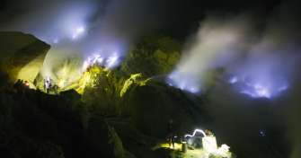 Open trip Banyuwangi Ijen blue fire tours and Bromo sunrise tours to Surabaya to take a train to Yog