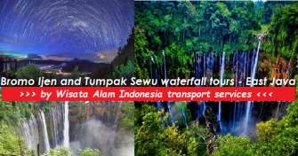 Surabaya or Malang trip to Bromo sunrise and Tumpak Sewu waterfall tours then to Banyuwangi for 4 da