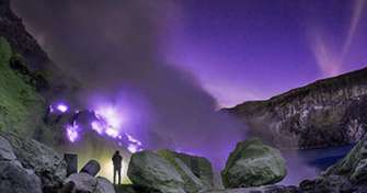 The open trip for Ijen blue fire tours Banyuwangi