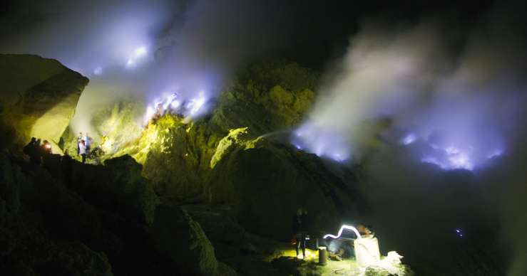 Group trip for the blue fire Ijen & Bromo tours then to Yogya 2D
